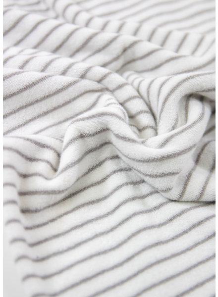 M grey - striped stretch towel fabric