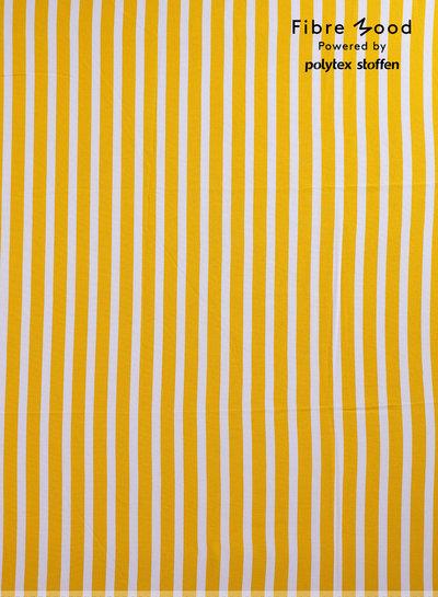 M Aila / Grace - wit en geel verticale strepen - viscose crêpe