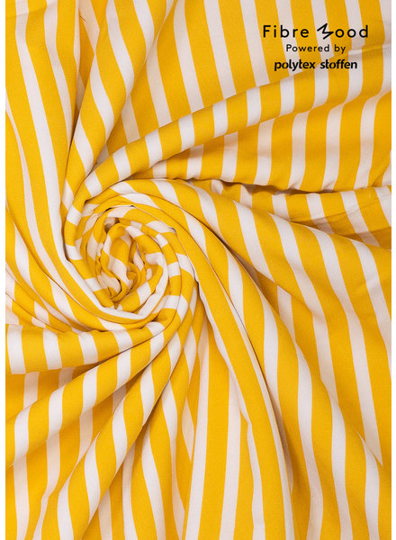 M white yellow vertical stripes - viscose crêpe