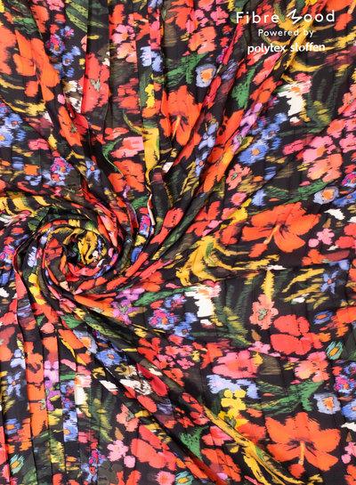Fibremood bloemen in felle kleuren - plisse - Bloom/Fiona