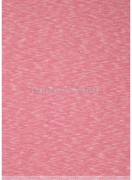 warm pink - beautiful melee jersey - 100% cotton