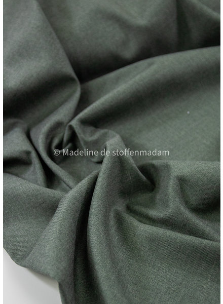 dusty green melee supple fabric - non wrinkle - bamboo - Noelle