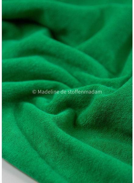 M gras green - stretch towel fabric