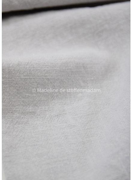 silver grey - stonewashed ramie 9oz