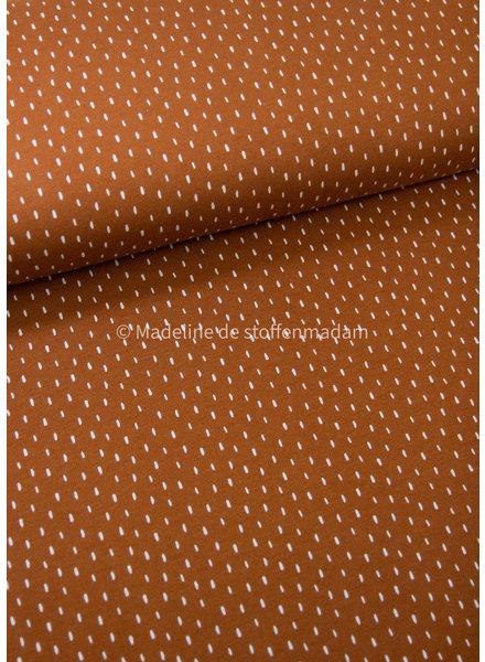 M cognac dots - soft sweat GOTS
