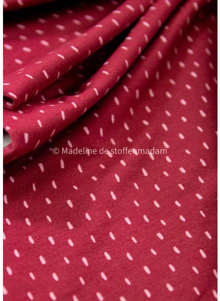 M cherry red dots - soft sweat gots