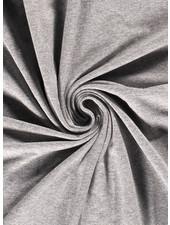 grijs - mooi gemeleerd effen tricot - 7oz