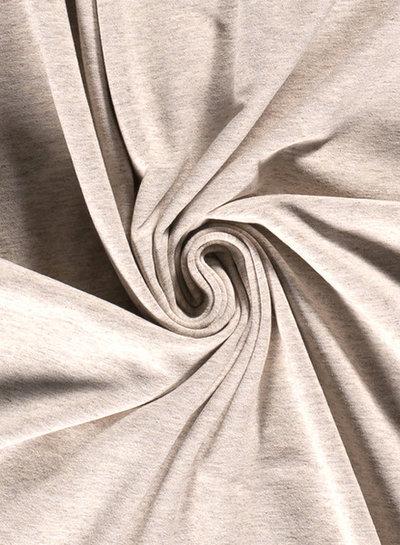 beige - mooi gemeleerd effen tricot - 7oz