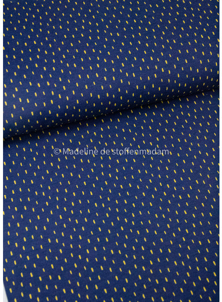 M navy dots - soft sweat GOTS
