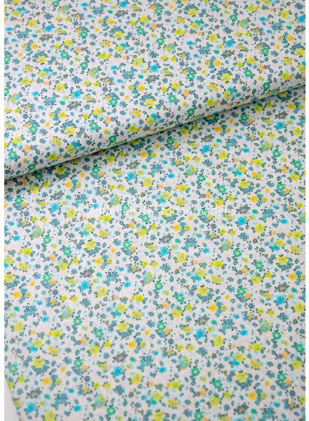 M 005 ocean kiwi flowers - liberty look - cotton lawn