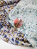 M marine  zomerse bloemen - viscose