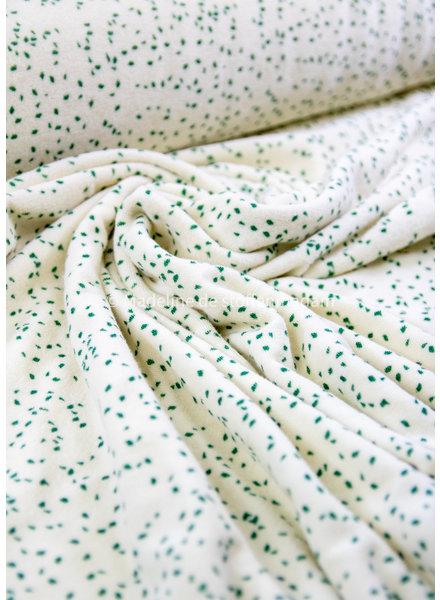 Fibremood green speckled - sponge - stretch towel