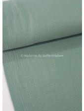 M linen cotton mix double gauze / tetra - mint
