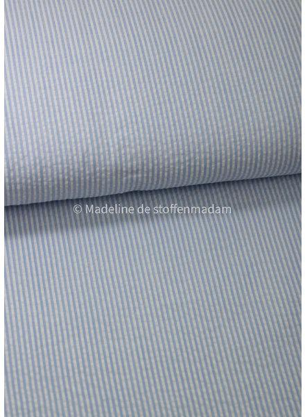 M light blue striped - seersucker