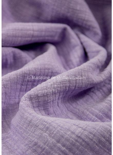 M linen cotton mix double gauze / tetra - lila
