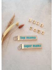 M sleutelhanger 'super mama'
