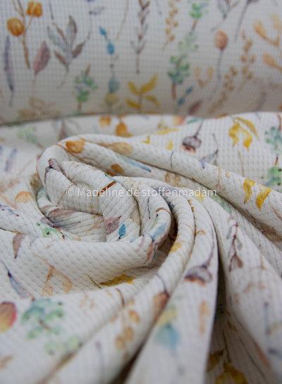 M gedroogde bloemen - gewafelde tricot