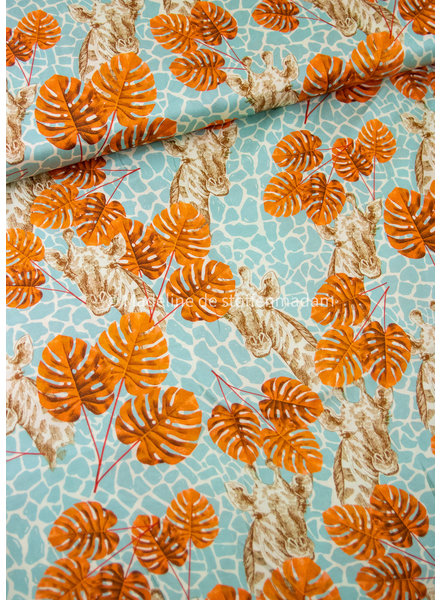 Editex giraffe leaves - viscose