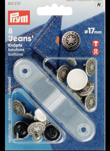 Prym 6 denim buttons  622210