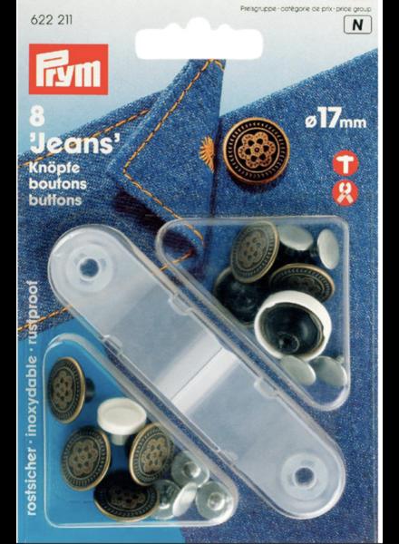 Prym 6 jeans buttons 622211