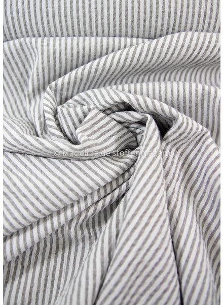 M taupe striped - seersucker