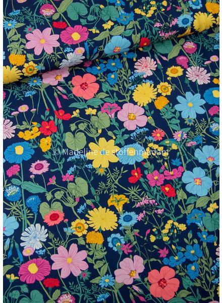 Swafing vintage botanical tricot - marineblauw - 4