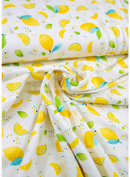Swafing sun and lemons - tricot wit