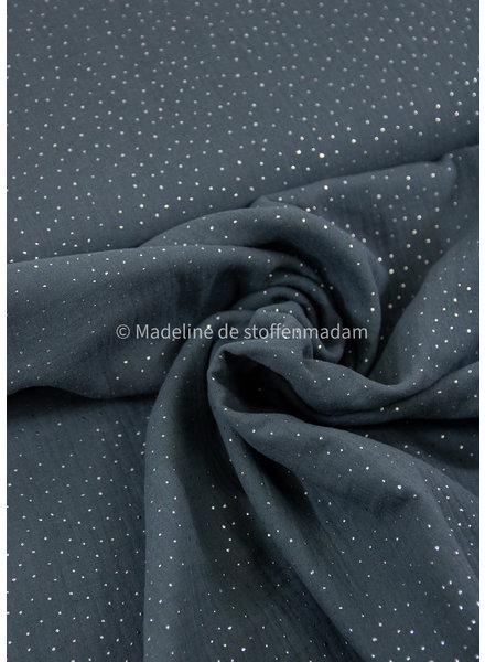 Swafing dark khaki silver dots - muslin
