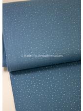 Swafing blue silver dots - muslin