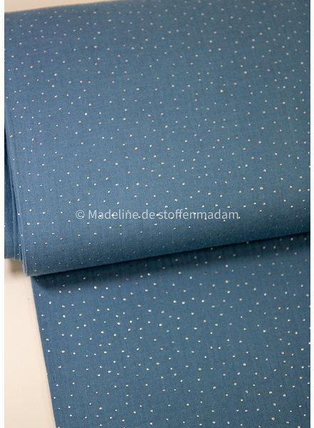 Swafing blauw zilver dots - tetra