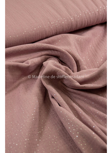 Swafing pink silver dots - muslin