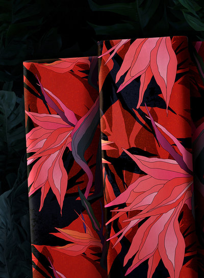 Swafing Paradise Bloom  viscose - lila