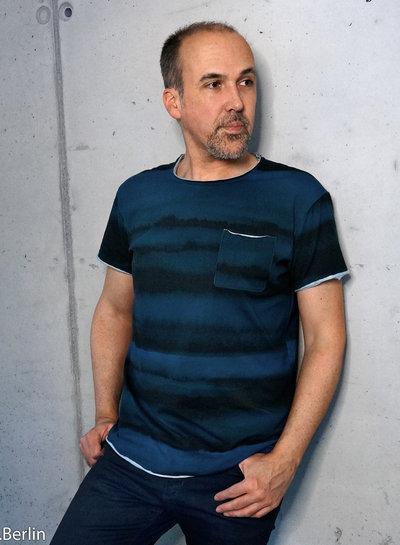 Swafing blauw - Franjo El Piranho - tricot