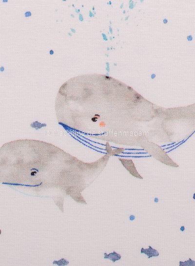 Swafing walvissen blauw - tricot