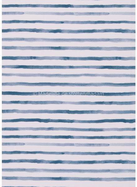 Swafing blauwe lijnen - tricot