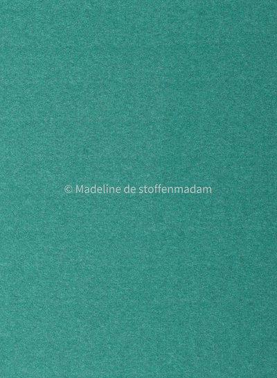 Swafing appelblauw zeegroen gebreide stof van Italiaanse makelij  - Bene