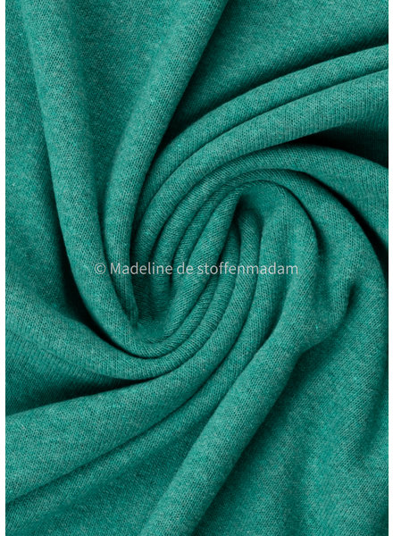 Swafing teal knitted fabric - made in Italy - Bene