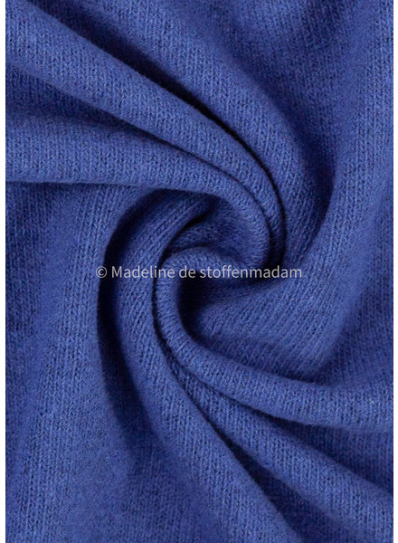Swafing cobalt knitted fabric - made in Italy - Bene