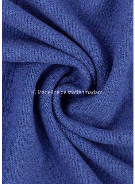 Swafing kobaltblauw gebreide stof van Italiaanse makelij  - Bene