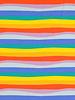 M regenboog  golvende strepen - tricot