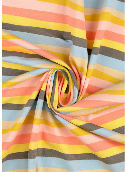 M pastel wavy stripes - jersey