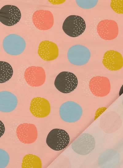 M roze bolletjes - tricot