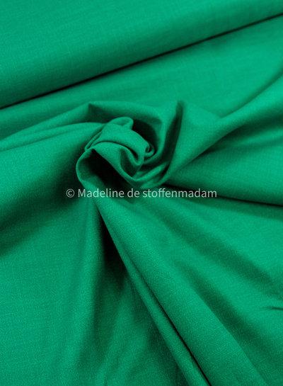 M grasgroen - rekbaar linnen katoen mix - superzachte kwaliteit