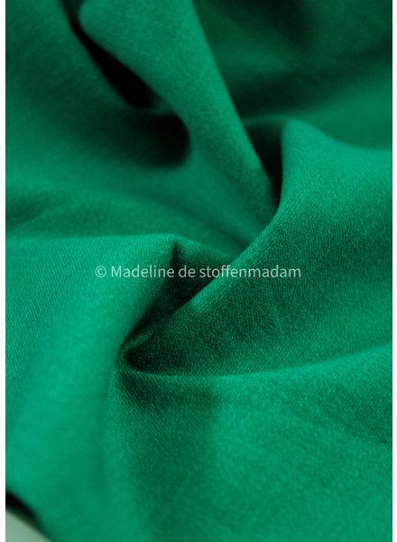 M grass green - stretch linen cotton mix - soft quality