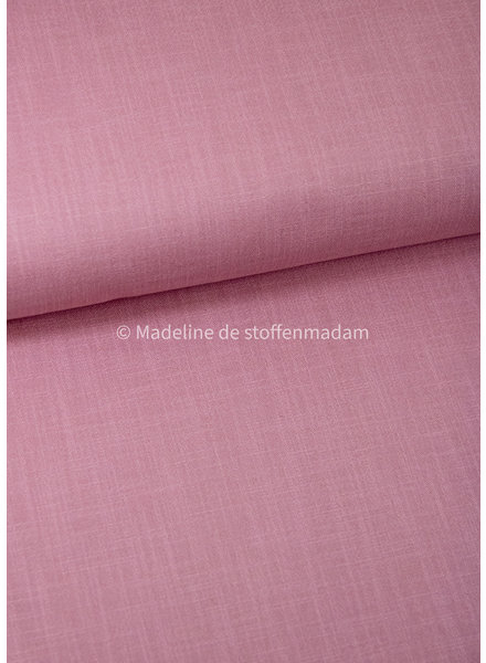 M dusty pink 820 - stretch linen cotton mix - soft quality