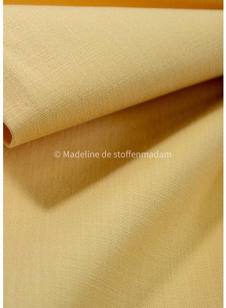 M pastelgeel - rekbaar linnen katoen mix - superzachte kwaliteit
