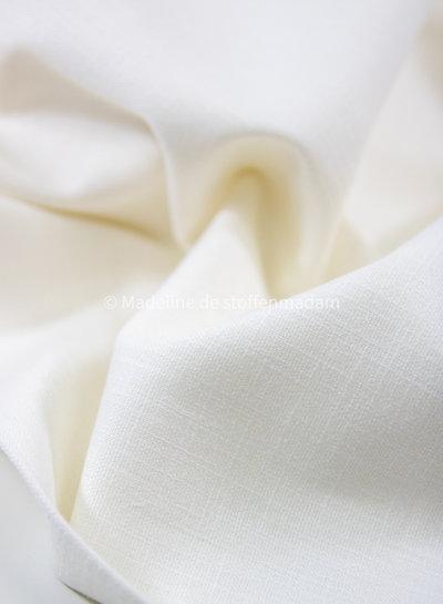 M wolkwit - rekbaar linnen katoen mix - superzachte kwaliteit