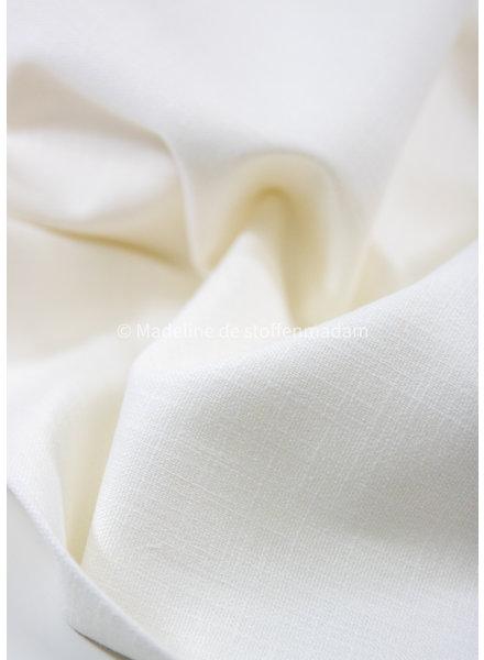 M cloud white - stretch linen cotton mix - soft quality