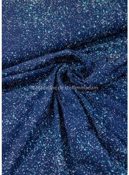 M paint splatter navy - jersey