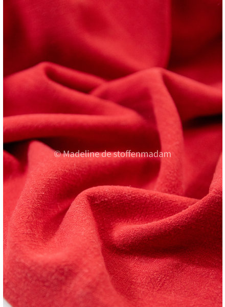 M red - viscose linen blend
